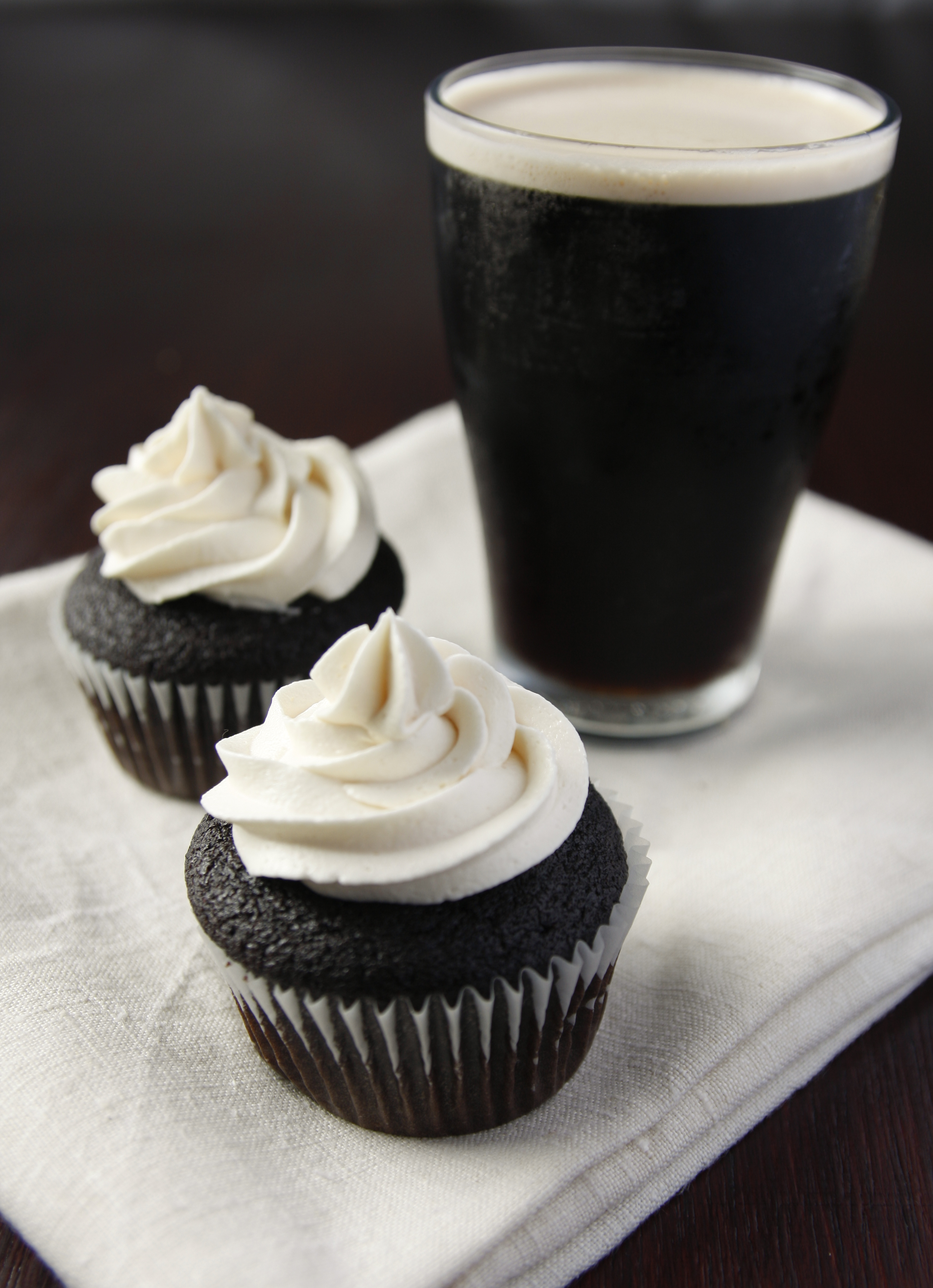 Guinness Cupcakes Using Cake Mix
